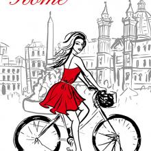 Девушка в Риме