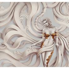 Девушка в скульптуре