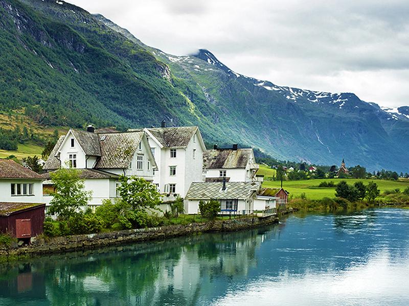 Домики в Норвегии 1748