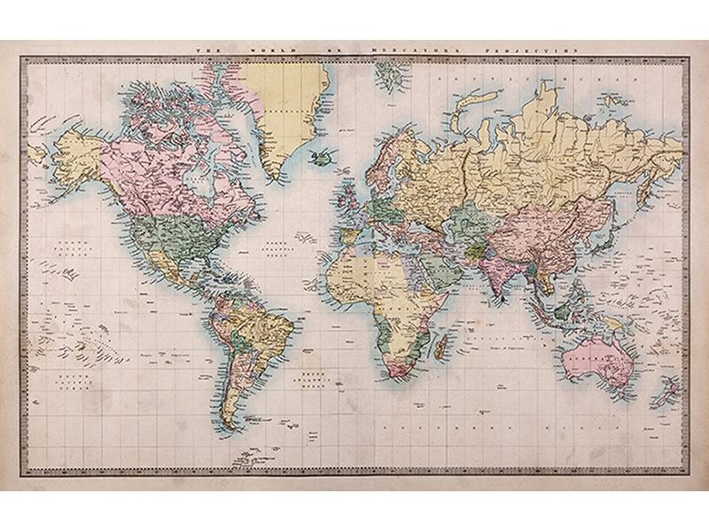 Древняя карта мира 2319