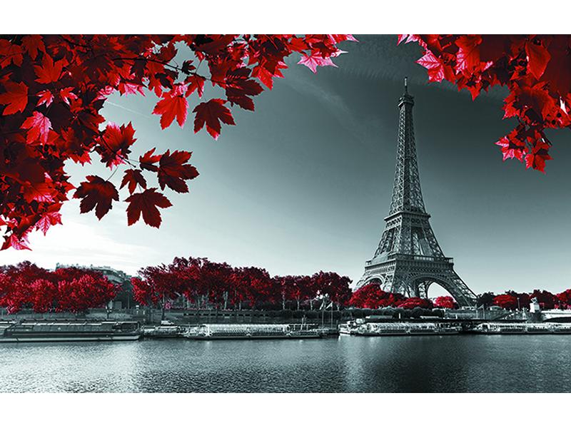 Эйфелева башня и красными листьями 1723