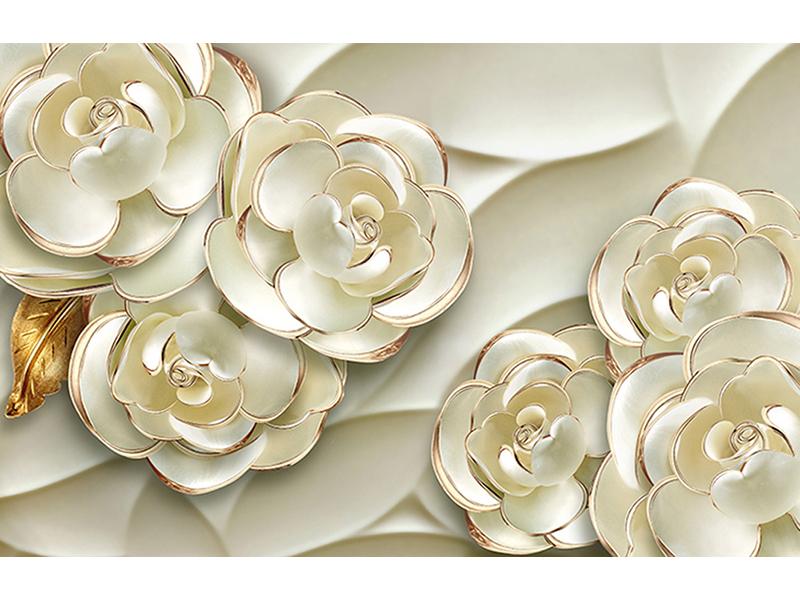 Фарфоровые розы 3д 1073