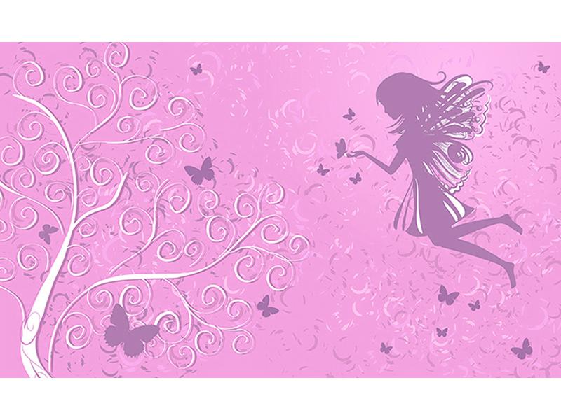 Фея на розовом 2238