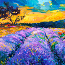 Фиолетовое поле