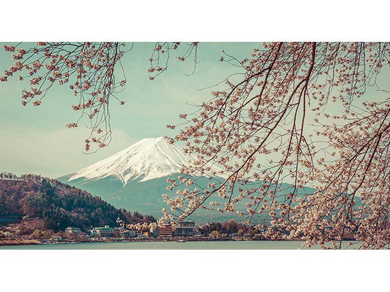 Гора Фудзи весной 1807
