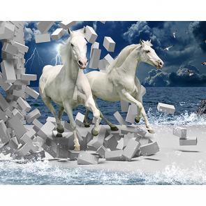Лошади гром и молния