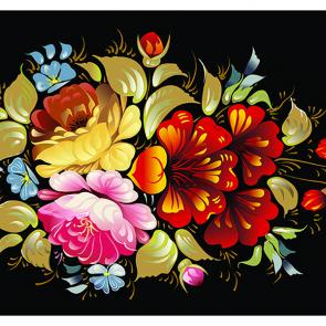 Искусство с цветами