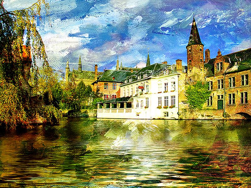 Канал в Бельгии 1658