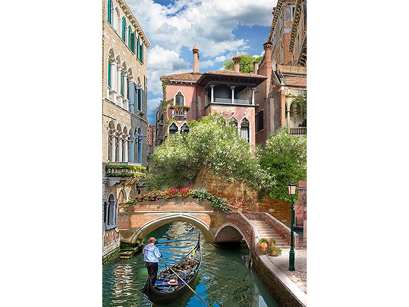 Мостик над каналом в Венеции 1657