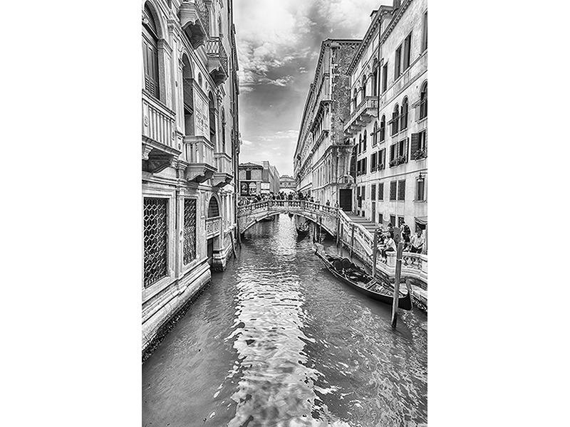Канала в Венеции черно-белый 1655
