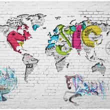 Карта мира граффити