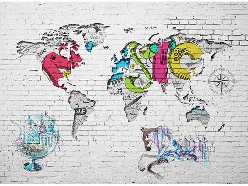 Карта мира граффити 2324