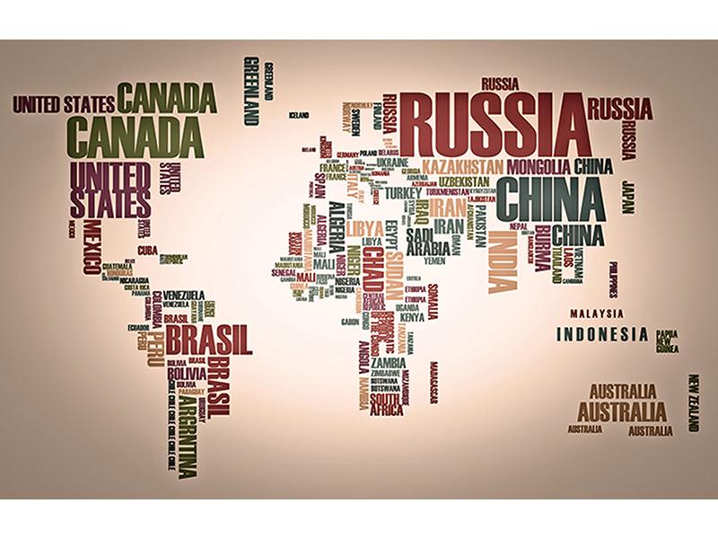 Карта мира из слов 2325