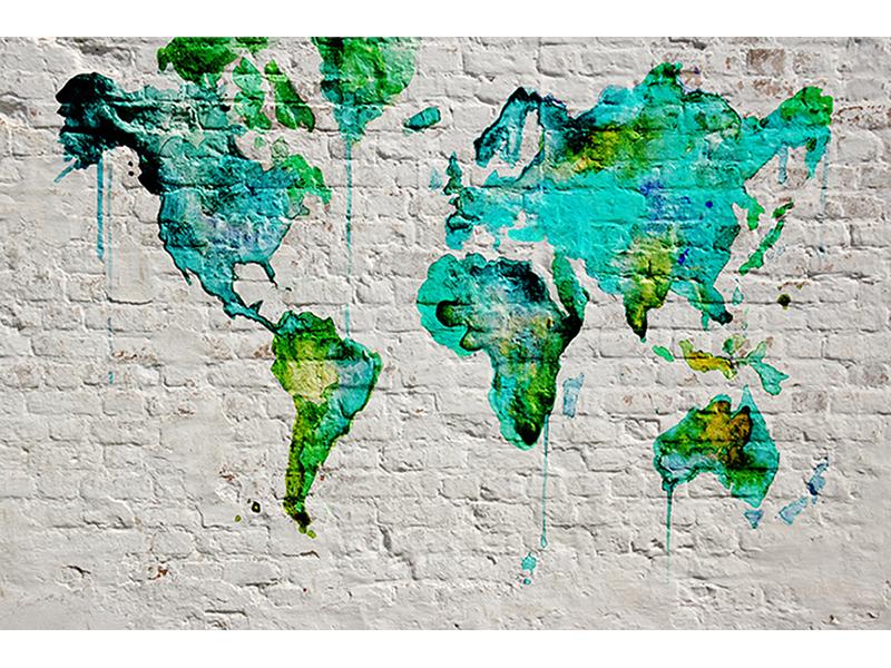Карта мира лофт 2326