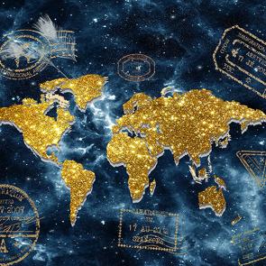Карта мира креативная