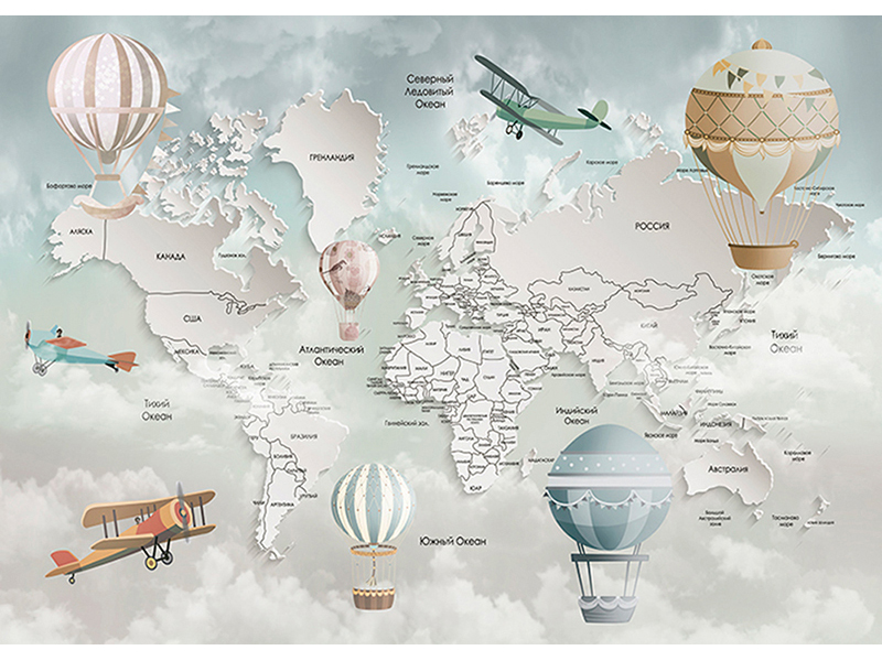 Карта мира 3д 2331