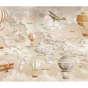 Карта мира  теплая