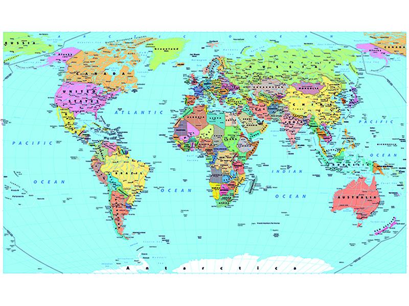 Политическая карта мира 2328