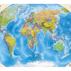 Карта мира на глобусе