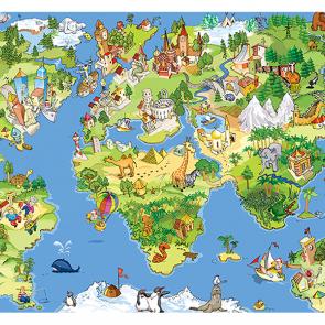Детская карта мира рисованная