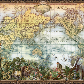 Карта мира и звери