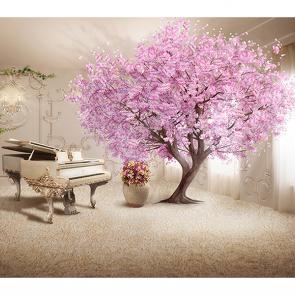 Комната с розовым деревом