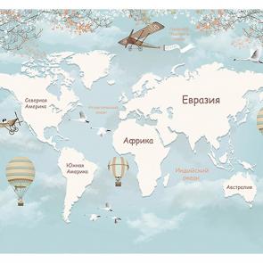 Детская карта мира в небе