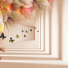 Коридор с бабочками
