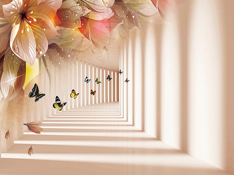 Коридор с бабочками 1626