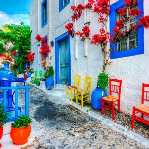 Красивая улочка Греции