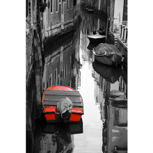 Красная лодка