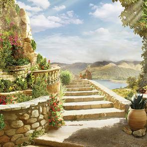 Лестница с балконом