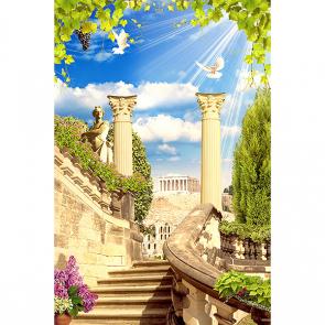 Лестница с колоннами