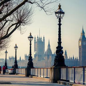 Лондон утром осенью