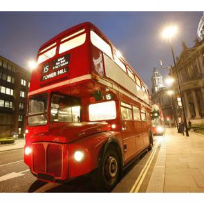 Лондонский автобус вечером