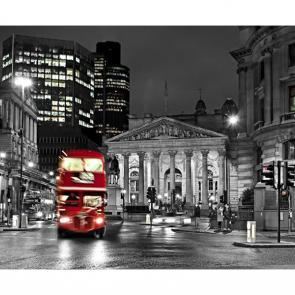 Автобус в Лондоне ночью