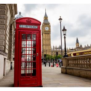 Красная будка в Лондоне