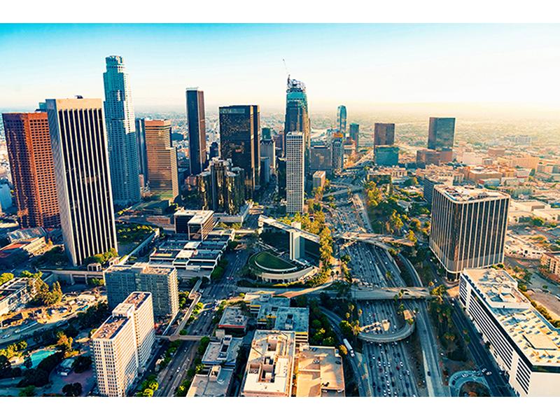 Лос-Анджелес на закате 1557