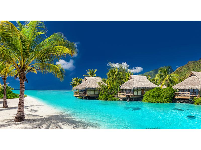 Пляж с отелями 2529