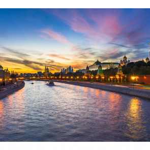 Москва на закате