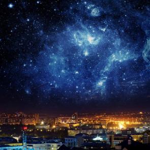 Ночное небо над городом
