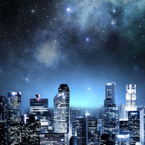 Небо над ночным городом