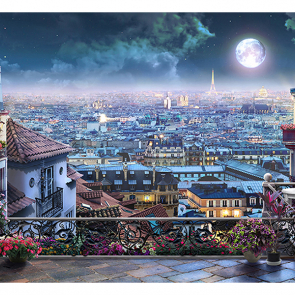 Ночь в Париже фреска
