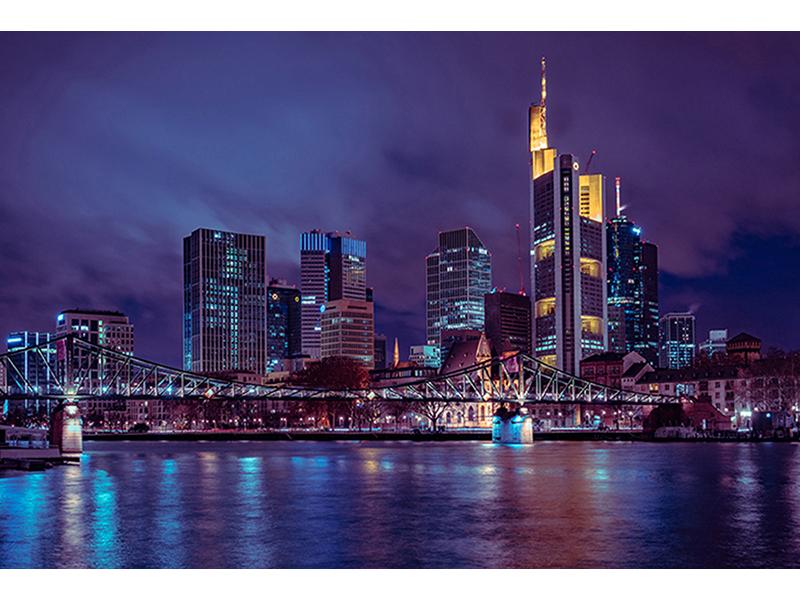 Ночной Франкфурта-на-Майне 1451