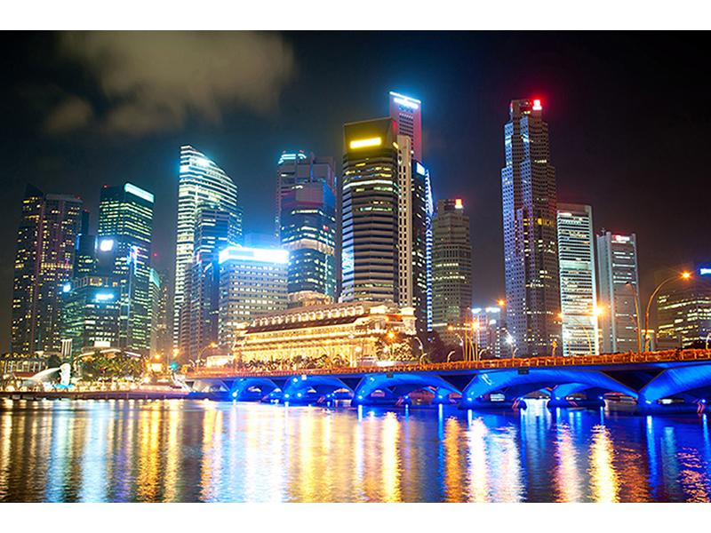 Ночные огни Сингапура 1447