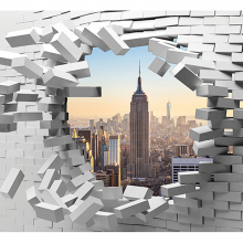 Нью-Йорк в кирпичной стене