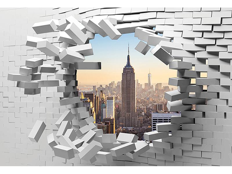 Нью-Йорк в кирпичной стене 1253