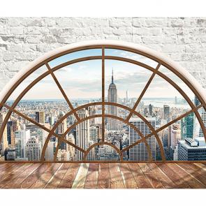 Окно в Нью-Йорк лофт