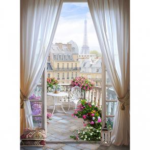 Фотообои окно в Париж