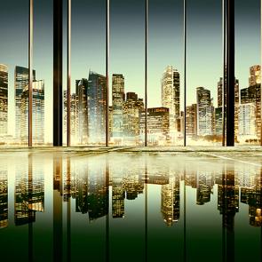 Отражение города